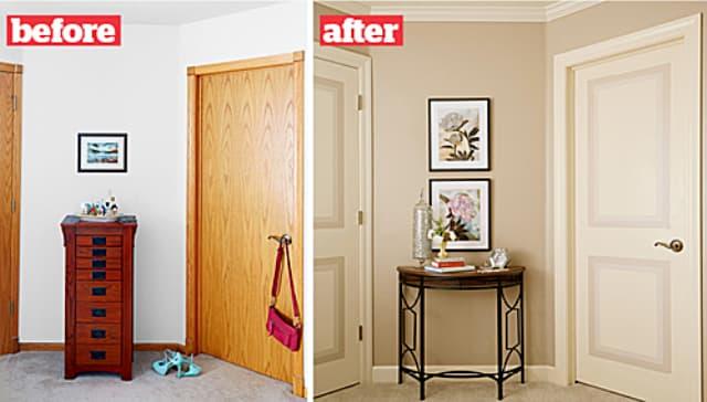 Sơn sửa lại cửa, tường, sắp xếp lại gọn gàng đồ đạc, bạn có thể bán nhà với giá cao hơn hẳn