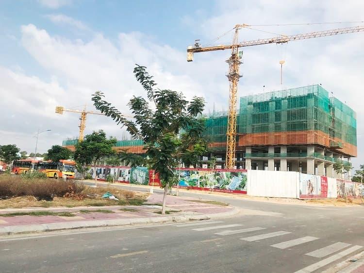 Góc nhìn Dự án Hacom Galacity từ đường Trần Nhân Tông