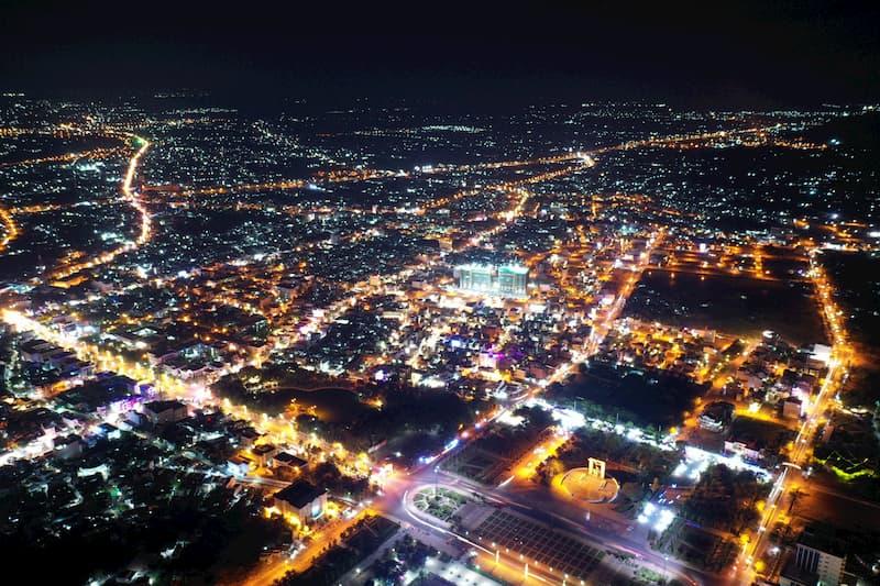 Thành phố Phan Rang Tháp Chàm về đêm