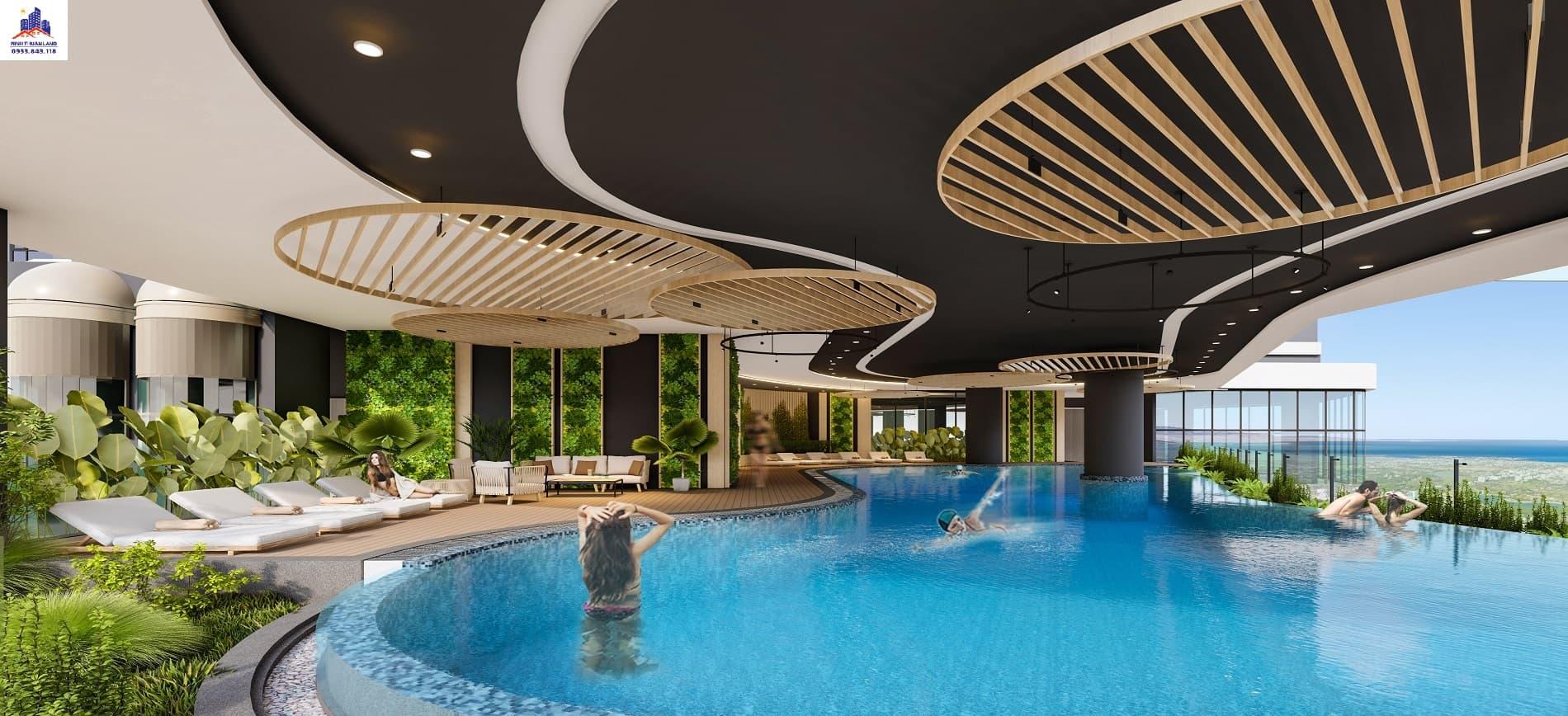 Bể bơi vô cực tại Hacom Mall