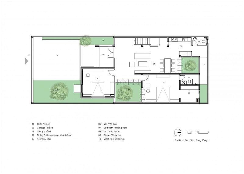 thiết kế cải tạo ngôi nhà thiếu sáng