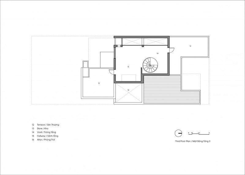 thiết kế tầng 3 ngôi nhà thiếu sáng tại Hà Tỉnh